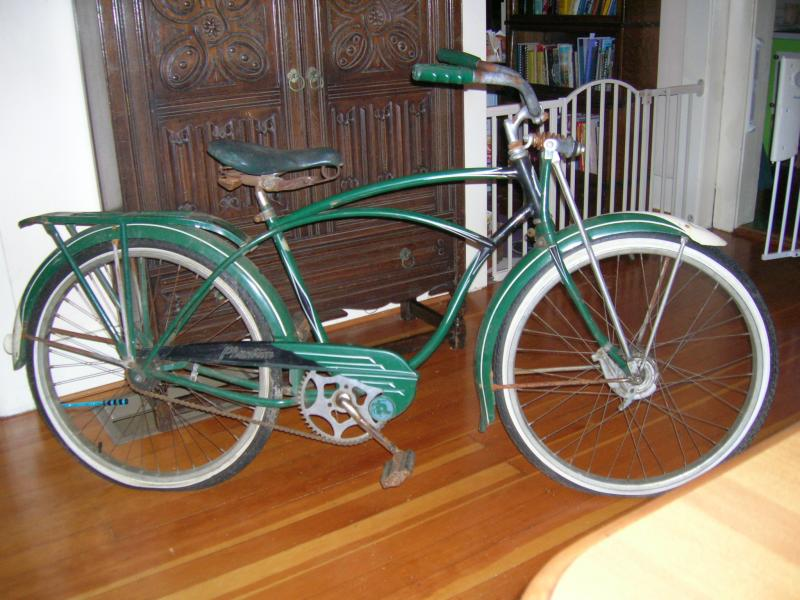 1953 Schwinn Green Phantom, B.F. Goodrich